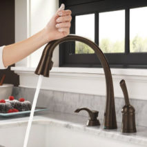 Touch Faucets and Great Looking Hardware.