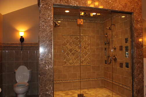 Stand Up Showers Head Stand And Double Shower Heads On
